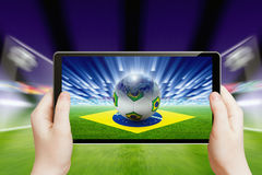 Soccer online, brazil soccer Royalty Free Stock Photo