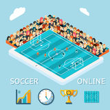 Soccer online Stock Photo