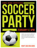 Soccer Party Flyer Invitation Illustration Royalty Free Stock Image