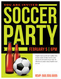 Soccer Party Flyer Template Illustration Stock Photos