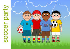 Soccer Party Invitation Royalty Free Stock Images