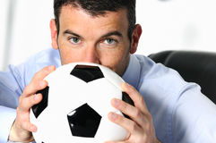 Soccer passion Stock Image