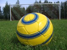 Soccer penalty. Soccer ball ready for penalty kick Royalty Free Stock Images