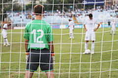Soccer penalty kick Royalty Free Stock Image