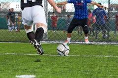 Soccer penalty kick Royalty Free Stock Photos