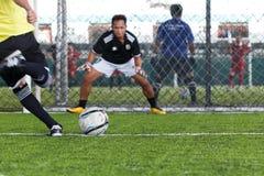 Soccer penalty kick Stock Image
