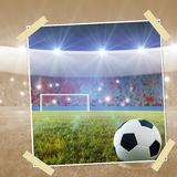 Soccer penalty kick snapshot Stock Images