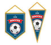 Soccer pennants isolated white Royalty Free Stock Image