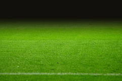 Soccer pitch. The soccer pitch with black gradient Stock Photography