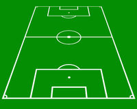 Soccer pitch. Layout in perspective Stock Photography