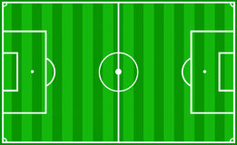 Soccer pitch. Soccer field layout Stock Photos