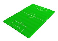 Soccer pitch angled Royalty Free Stock Photo