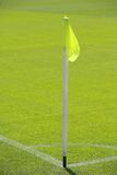 Soccer pitch corner flag Stock Images
