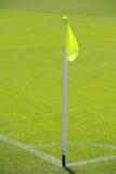 Soccer pitch corner flag Stock Images