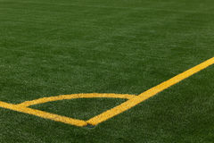 Soccer pitch corner marking Royalty Free Stock Photography