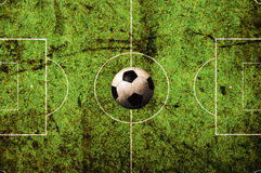 Soccer pitch grunge Stock Photo