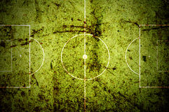 Soccer pitch grunge Royalty Free Stock Photo