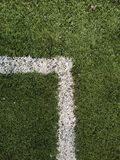 Soccer pitch lines. Soccer pitch corner lines Royalty Free Stock Photography