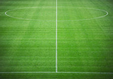 Soccer pitch. Neat soccer pitch in stadium Stock Images