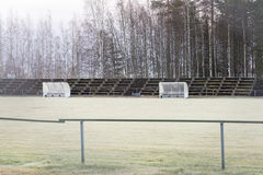 Soccer Pitch Substitution Booths Royalty Free Stock Images