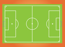 Soccer pitch. A vector illustration of a soccer pitch with white markings Royalty Free Stock Image