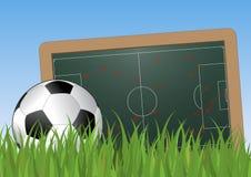 Soccer plan Stock Image