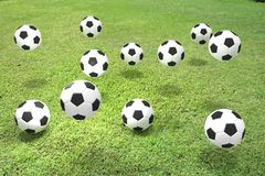 Soccer. Play  competitive  ball contest Royalty Free Stock Photo