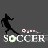 The soccer player Royalty Free Stock Photo