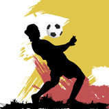Soccer player. Silhouette illustration vector Stock Photo