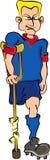 Soccer Player. Cartoon artwork line-art vector illustration