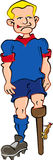 Soccer Player. Cartoon artwork line-art stock illustration