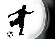 Soccer player. Illustration background Royalty Free Stock Photography