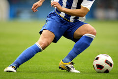 Soccer player. Turning on itself Royalty Free Stock Images