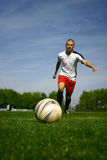 Soccer player #2. A football player in action Royalty Free Stock Photography