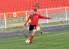 Soccer player. PLACE:ZRENJANIN, SERBIA Stock Images