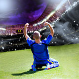 Soccer player. Soccer or football player on the field Stock Photos