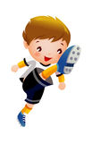 Soccer player. A boy is playing a Soccer Royalty Free Stock Photos