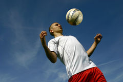 Soccer player #4. A football player in action Stock Photography
