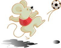Soccer player. Vector illustration for a mouse as a soccer player Royalty Free Stock Image