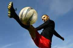 Soccer player #5. A football player in action Stock Image