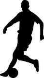 Soccer Player Silhouette. Vector illustration of soccer player Royalty Free Stock Images
