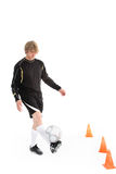 A soccer player Royalty Free Stock Photo