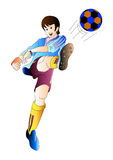Soccer player. Illustration drawing of soccer player isolated on white Royalty Free Stock Photos