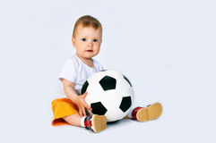 Soccer player. On white royalty free stock image
