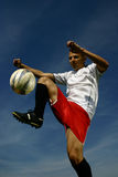 Soccer player #8. A football player in action Royalty Free Stock Image