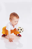 Soccer player. Isolated Royalty Free Stock Images