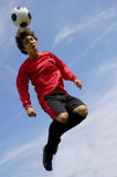 Soccer Player. Soccer - Football Player making header royalty free stock image