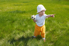 Soccer player. Outdoors Royalty Free Stock Photo