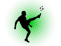 Soccer player on abstract background Stock Photos