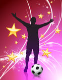 Soccer Player on Abstract Light Background Royalty Free Stock Images